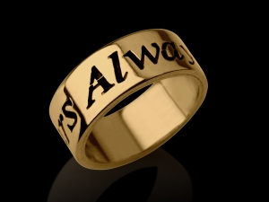 Gold Name Ring Hand Style
