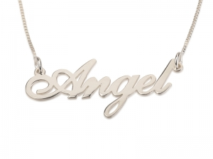 Sterling Silver Cursive Name Necklace