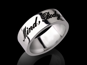 Name Ring R20-Hand Script Style