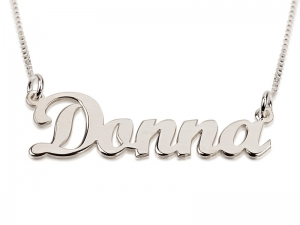 Sterling Silver Name Necklace Cursive Letters