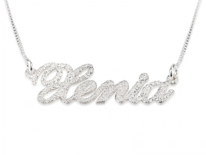 Sparkling Sterling Silver Name Necklace