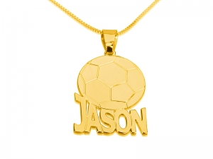 Soccer Pedant Personalized Necklace