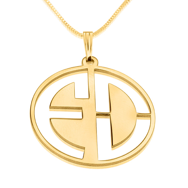 2 letters gold monogram necklace negative aloadofball Gallery