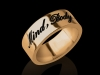 Gold Name Ring Hand Script Style