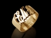 Gold Name Ring Open Style