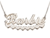Sterling Silver Name Necklace with Hearts Underline
