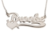 Sterling Silver Name Necklace with Underline and Heart