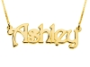 Gold Plated Name Necklace - Block Letters Small