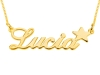 Right Side Star Gold Cursive Letters Necklace Small