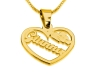 Gold Plated Heart Pedant with Your Name