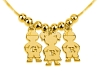 3 Kids Pedant Gold Plated Necklace Small