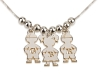 3 Kids Pedant Silver Necklace Small