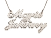 2 Words Silver Name Necklace with Cupid
