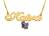 Gold Plated Name Necklace with Small Pendant
