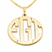 3 Letters Gold Monogram Necklace - Close