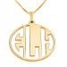 3 Letters Gold Monogram Necklace - Negative