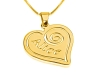 Heart Pedant with Your Name Gold Plated Necklace Small