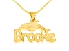 Gold Plated Dolphin with Name Personalized Necklace