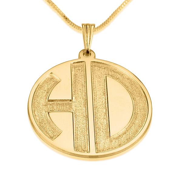 2 Letters Gold Monogram Necklace